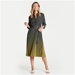 Gerry Weber Pleated Dress Khaki