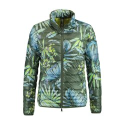 Taifun Flower Print Quilted Coat Green
