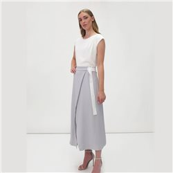 Fee G Contrast Dress Grey