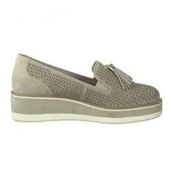 Tamaris Luna Leather Slip On Stone