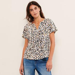 Blouses & Shirts Gesina V Neck Top Blue