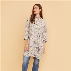 Part Two Gosia Floral Print Dress Cream