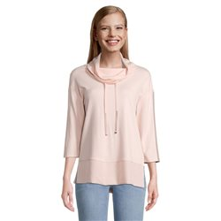 Betty Barclay Cowl Neck Jumper With Tie Detail Pink
