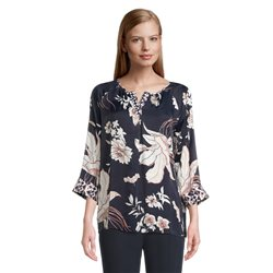 Betty Barclay Floral Print Blouse Navy