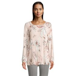 Betty Barclay Floral Print Pleated Blouse Pink