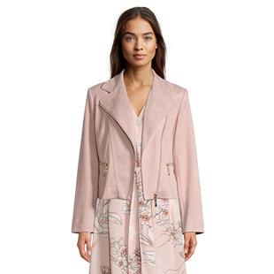 Suede Look Zip Jacket Pink