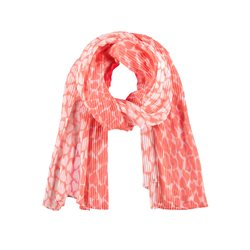 Heart Print Scarf Coral