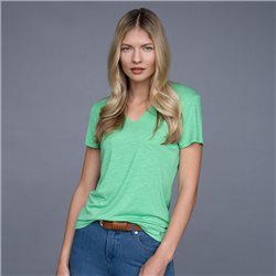Marble V Neck Top Green