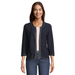 Betty Barclay Wave Effect Zip Jacket Navy
