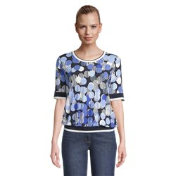 Betty Barclay Circle Print Top Blue