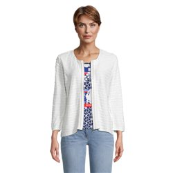 Betty Barclay Wave Effect Zip Jacket Off White