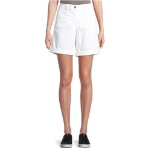 Shorts With Turn Ups White