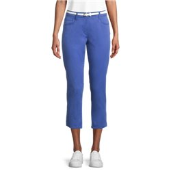 Betty Barclay Cotton Trouser With Belt Blue