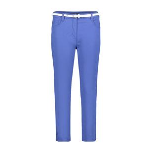 Cotton Trouser With Belt Blue