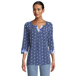 Betty Barclay Floral Print Blouse Blue