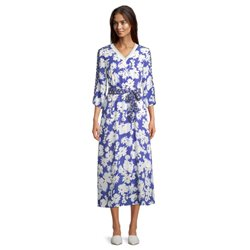 Betty Barclay Floral Print Dress Blue