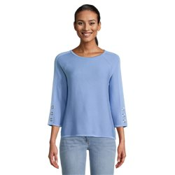 Round-Neck-Jumper-With-Stud-Sleeve-Blue