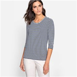 Olsen Striped Top Navy