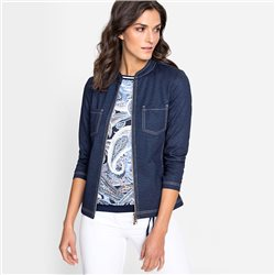 Olsen Denim Look Jacket Blue