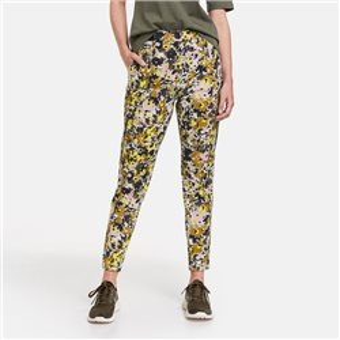 Flower Print Trousers Khaki