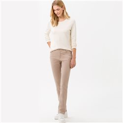 Brax Carola Straight Fit Jean Regular Truffle