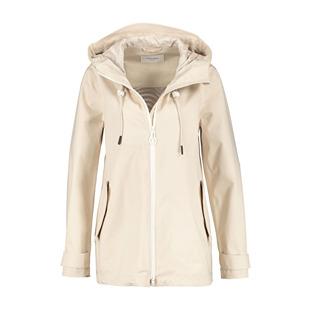 Coat With Hood Beige