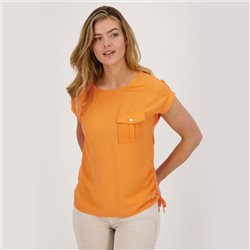 Monari Top With Front Pocket Orange