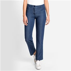Olsen Mona Straight Fit Jean Deep Blue Denim