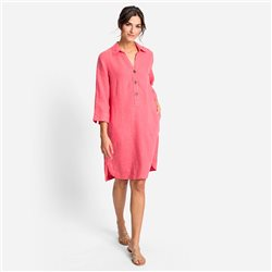 Olsen Linen Dress Raspberry