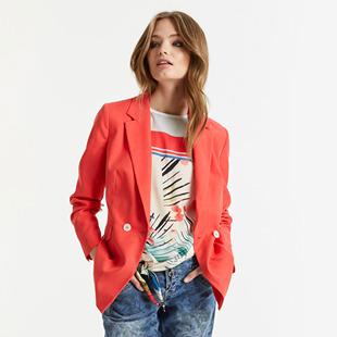 Tailored Blazer Red