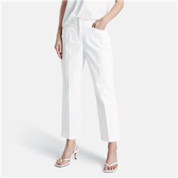 Straight Fit 7/8 Trouser Off White