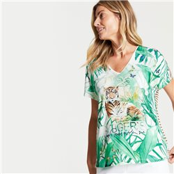 Gerry Weber Top With Tiger Motif Green