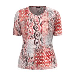Lebek Graphic Print Top Rose