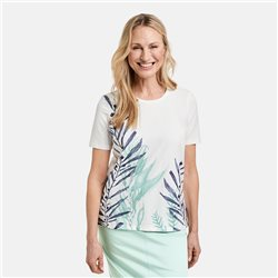 Gerry Weber Top With Leaf Design Off White