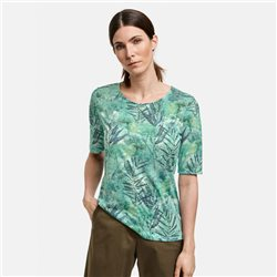 Gerry Weber Leaf Print Top Green