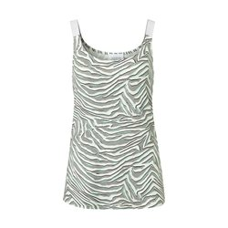 Just White Animal Print Vest Top Khaki