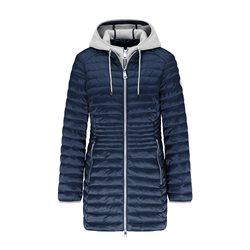 Lebek Quilted Coat With Hood Navy