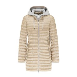 Lebek Quilted Coat With Hood Beige