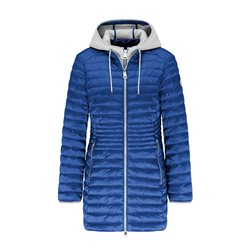 Lebek Quilted Coat With Hood Blue