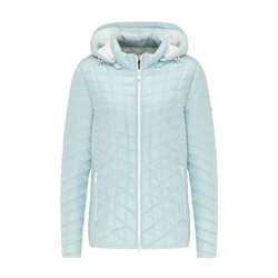 Lebek Quilted Coat With Detachable Hood Mint