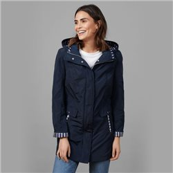 Lebek Lightweight Coat With Detachable Hood Navy