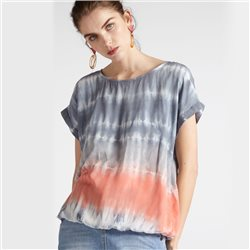 Sandwich Watercolour Print Top Grey
