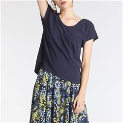 Sandwich V Neck Top Dark Navy