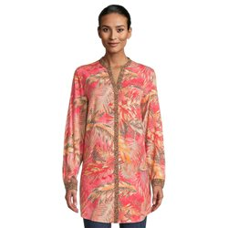 Betty Barclay Leaf Print Tunic Coral