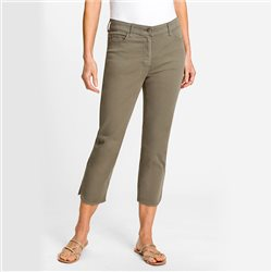 Olsen Mona Slim Cropped Trousers Khaki
