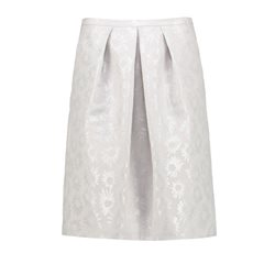 Taifun Metallic Flower Print Skirt