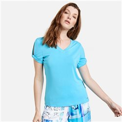Top With Rouch Sleeve Blue