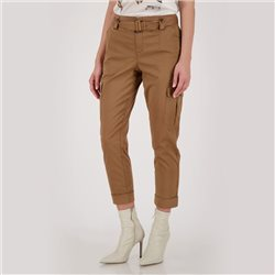 Cargo Trousers With Belt Tan
