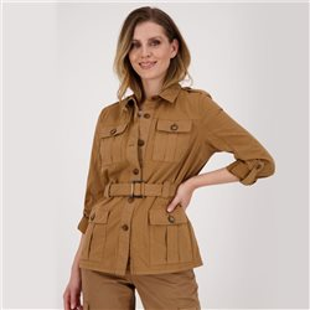 Cargo Style Jacket Tan