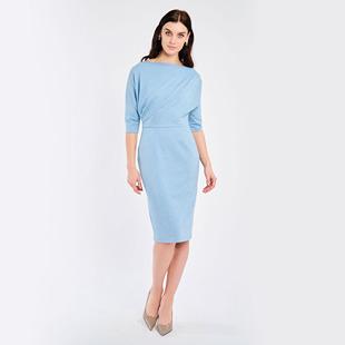 Shimmer Draped Dress Blue